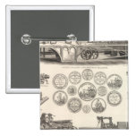 SA Woods Machine Company Pin Cuadrado