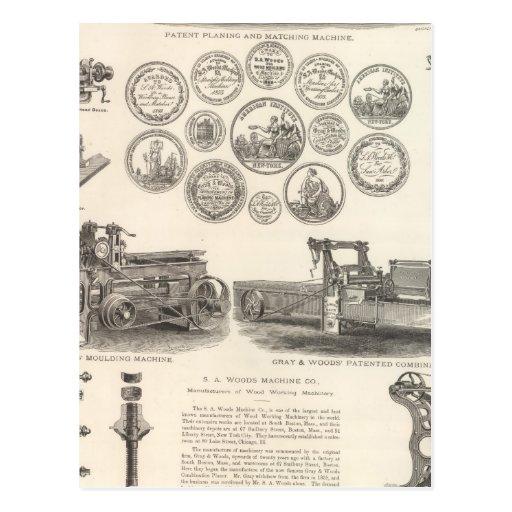 SA Woods Machine Company Postales