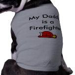 SAA1697, mi papá es bombero Camisetas De Perrito