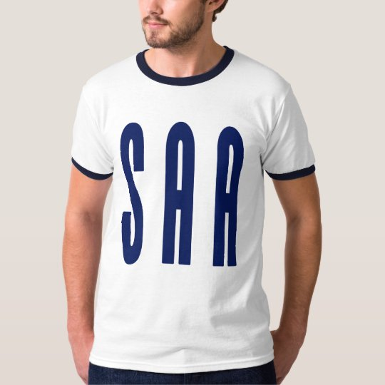 SAA blue ringer T 2 - Customized T-Shirt