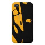 Saab 900 SPG/Aero - amarillee en la caja oscura de iPhone 4 Funda