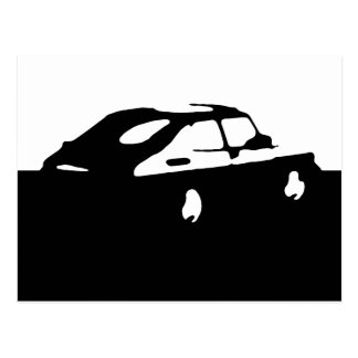 Saab 900 SPG/Aero - Black on light postcard