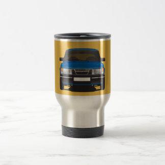 Saab 900 turbo (azul) taza de viaje