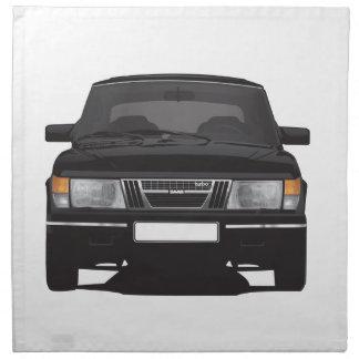 Saab 900 turbo (black) cloth napkin
