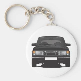 Saab 900 turbo (black) keychain
