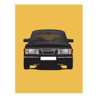 Saab 900 turbo (black) postcard