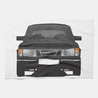 Saab 900 turbo (black) towel