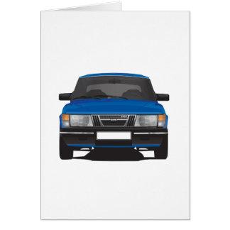 Saab 900 turbo (blue) card