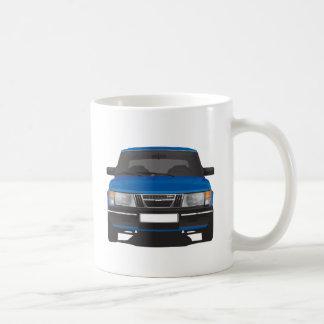 Saab 900 turbo (blue) coffee mug
