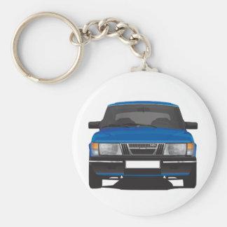Saab 900 turbo (blue) keychain