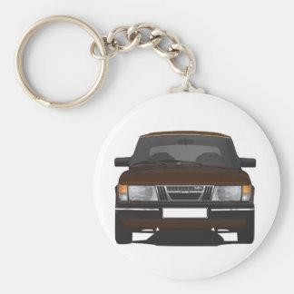 Saab 900 turbo (brown) keychain