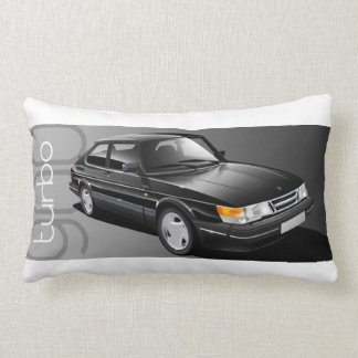 Saab 900 Turbo coupe cushion Throw Pillow