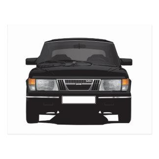 Saab 900 turbo (negro) postales