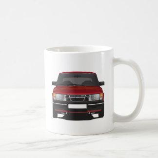 Saab 900 turbo (red) coffee mug