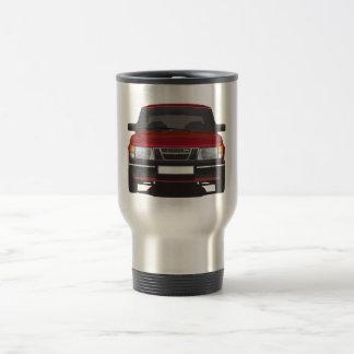 Saab 900 turbo (red) travel mug