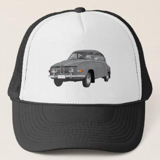 Saab 96 gray trucker hat
