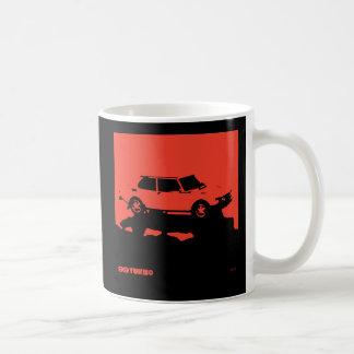 Saab 99 Turbo mug - Red on black