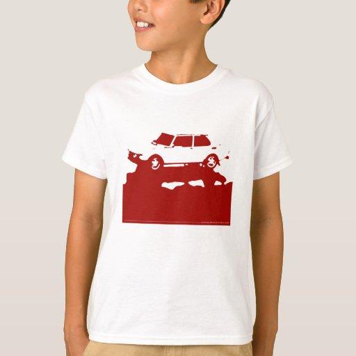 Saab 99 Turbo - rojo en el camisetas ligero