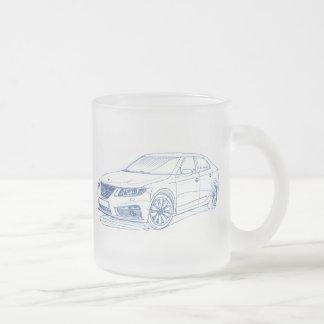 Saab 9-5 2011 frosted glass coffee mug