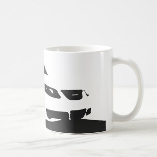 Saab 9-5 Aero front - Charcoal on light background Coffee Mug