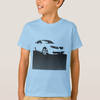 Saab 9-5 Aero front - Charcoal on light bkgd T-Shirt