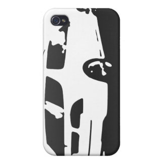 Saab 9-5 Aero rear - Charcoal on light backround Case For iPhone 4