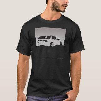 Saab 9-5 Aero rear - Gray on dark shirts