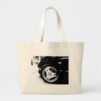 Saab Aero (klingon) wheel Large Tote Bag