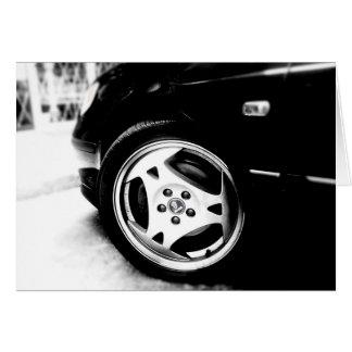 Saab Aero wheel - notecard