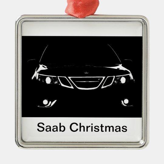 Saab Christmas Metal Ornament