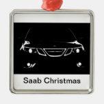 Saab Christmas Ornament