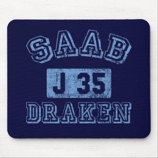 Saab Draken - AZUL Tapete De Raton
