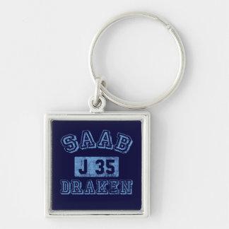 Saab Draken - BLUE Keychain