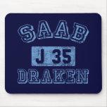 Saab Draken - BLUE Mousepad