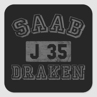 Saab Draken Pegatina Cuadrada