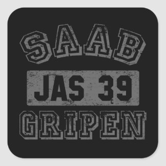 Saab Gripen Square Sticker