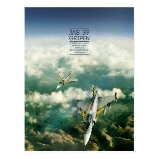 Saab JAS 39 Gripen postcard