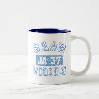 Saab Viggen - BLUE Two-Tone Coffee Mug