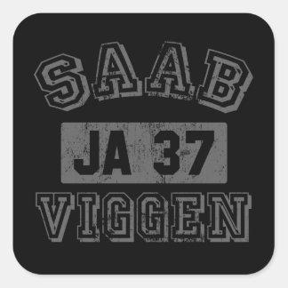 Saab Viggen Pegatina Cuadrada