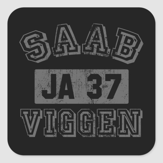 Saab Viggen sticker. Square Sticker