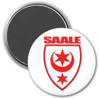 Saale (Halle) 3 Inch Round Magnet