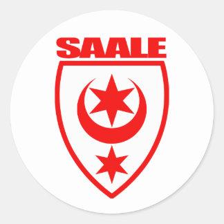 Saale (Halle) Etiquetas Redondas