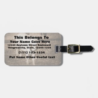 Saanen doeling sepia goat mouth open tags for luggage