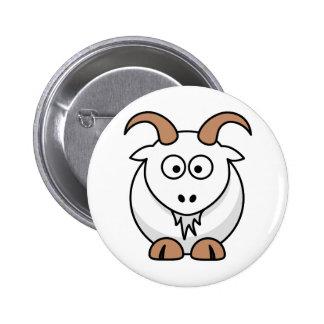 Saanen Goat 2 Inch Round Button