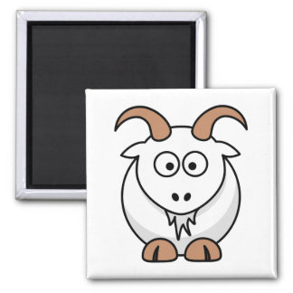Saanen Goat 2 Inch Square Magnet