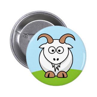Saanen Goat Pinback Buttons