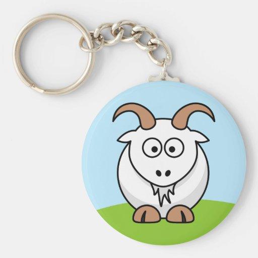 Saanen Goat Keychain