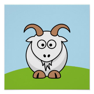 Saanen Goat Print