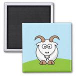 Saanen Goat Refrigerator Magnets
