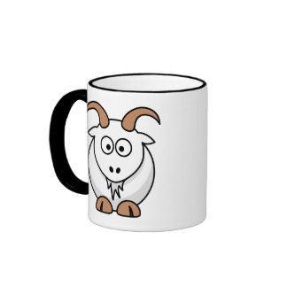 Saanen Goat Ringer Coffee Mug